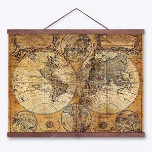 Los mejores mapas mundi vintage y retro.